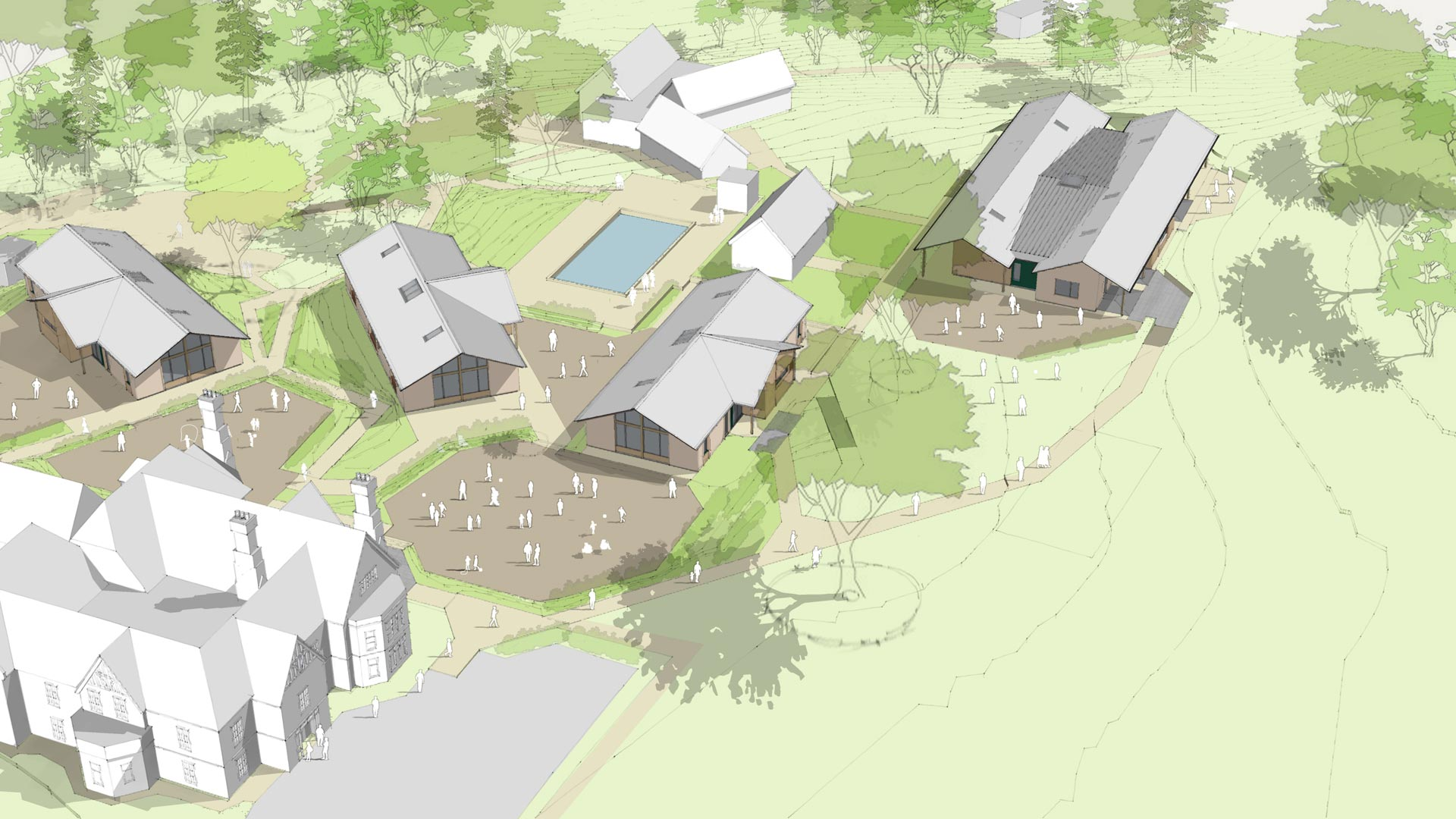 Artists impression of scheme at Stroud school