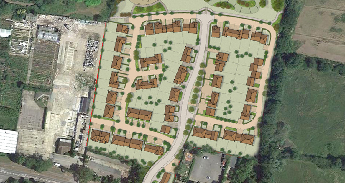 Planning application for housing development Goff's Oak